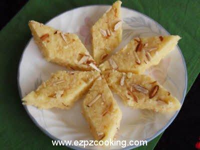 Gola Burfi (Coconut Burfi) Recipe