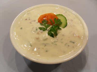Mixed Vegetable Raita (Flavored Yogurt) Recipe
