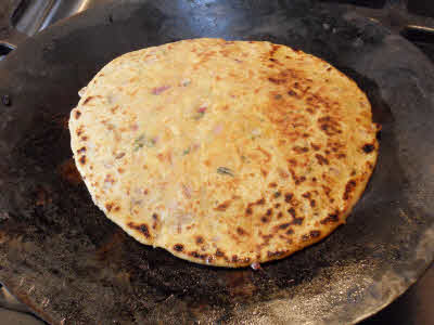 Dal Parantha is ready to eat