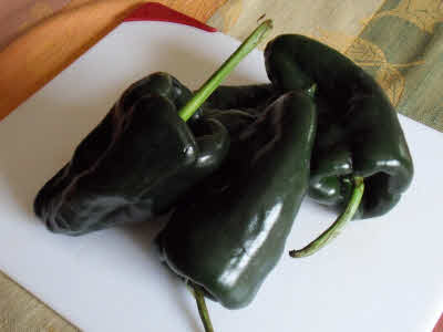 Raw bell peppers