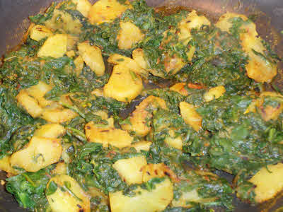 Palak Aaloo is ready to serve