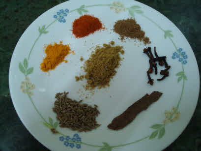 Spices for Lauki Pulao