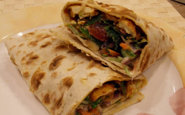 Spicy Vegetable Wrap