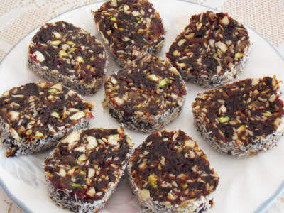 Dates and Nuts Rolls Recipe