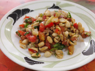 Peanut Bhel is ready to serve