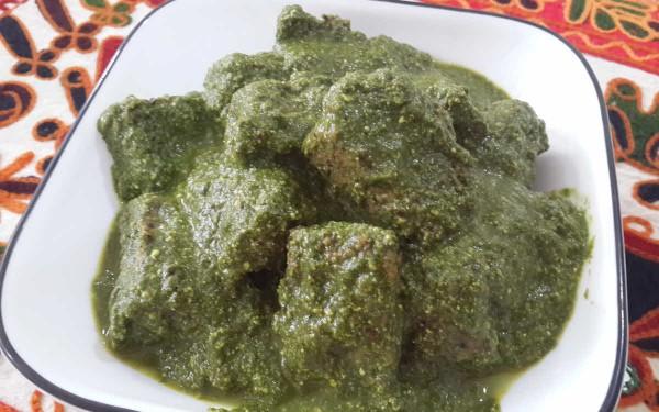 Sepu Badi And Spinach Madra