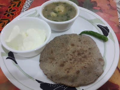 Kuttu Parantha is ready