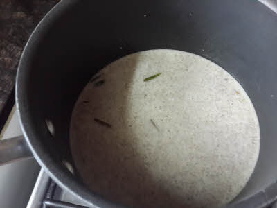 Cooking Kutu Kadhi or Soup