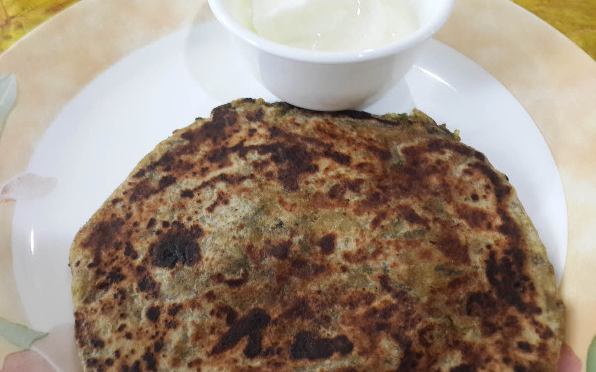 Methi Stuffed Parantha