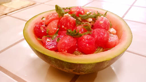 Watermelon Salad is ready