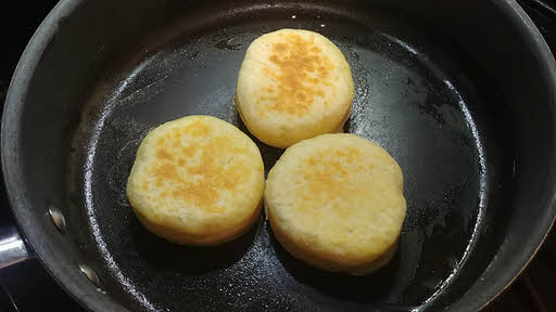 Cook english muffin
