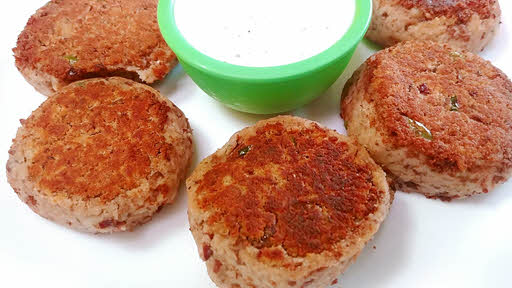 Serve galauti kebabs with thick masala curd