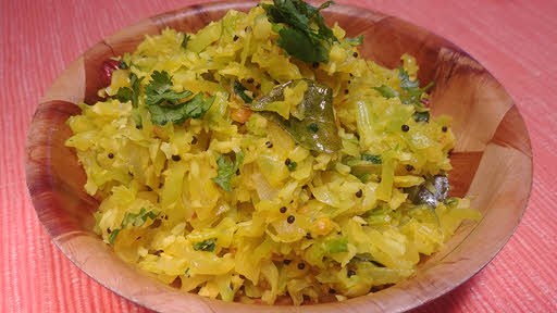 South Indian Style Cabbage is ready to serve