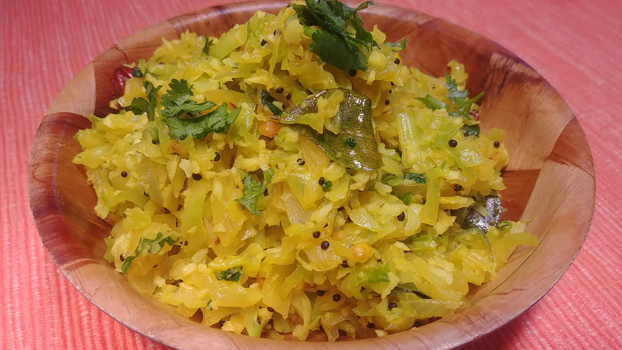 South Indian Style Cabbage