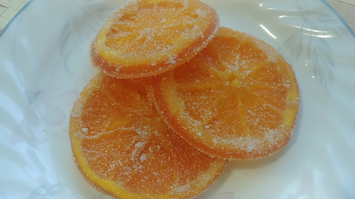 Candied Orange slices are ready