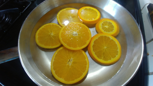 Blanch the slices