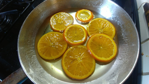 Simmer the slices till they start to become translucent
