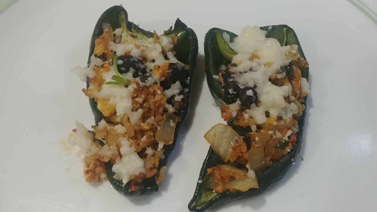 Mexican Style Stuffed Poblano Peppers